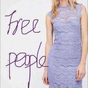 🆕Free People lace lavender purple Mini Dress